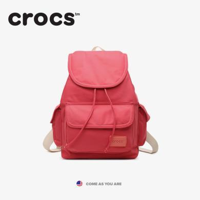Crocs2019清新尼龙书包迷你旅行背包女休闲简约双肩包开学季