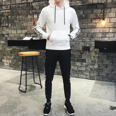 套装男士两件套长袖套装男士套装休闲运动套装男学生韩版潮流秋季青少年套装卫衣男生套装套装MF-6777