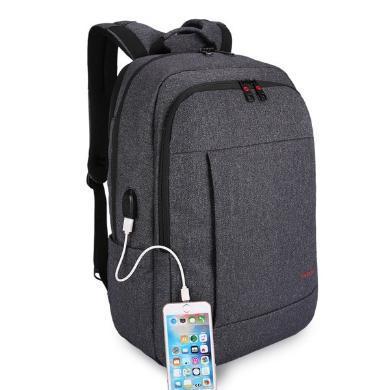 泰格奴 商務電腦包旅行背包USB插口電腦背包 T-B3142USB