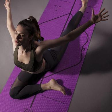 【滿99減15 滿199減30】艾美仕tpe防滑瑜伽墊加厚加寬加長初學者男士健身墊瑜伽毯女YH-1129