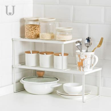 分層廚房置物架落地收納架櫥柜架浴室桌面儲物架子微波爐收納架