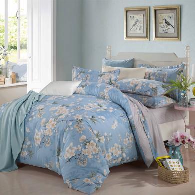 【熱賣爆款】帝豪家紡  純棉床上四件套 斜紋全棉 床單被套4件套 1.5m床/1.8m床上用品