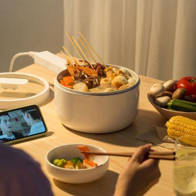 OLAYKS電煮鍋宿舍寢室學生炒菜一體鍋多功能家用煮面小型電熱火鍋1.5L
