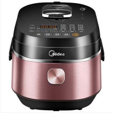 美的(Midea)電壓力鍋 多功能一鍋雙膽24小時預約 IH變壓高速快煮高壓鍋 智能觸控中途可加菜 HT5082PG