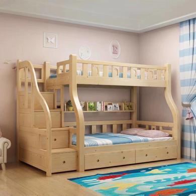 HJMM全實木子母床兒童高低上下床雙人成年母子兩層上下鋪木床雙層