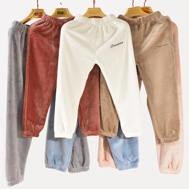 修允菲兒童暖暖褲親子裝珊瑚絨仙女暖暖褲家居褲加絨加厚保暖懶人可外穿R91809