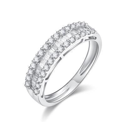 Cerana18K金钻石戒指订婚求婚戒指公主女戒