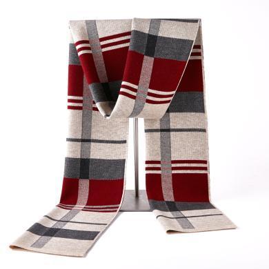 藍天龍羊毛圍巾男新款秋冬季高檔針織圍脖男生日禮物百搭商務潮(0718)