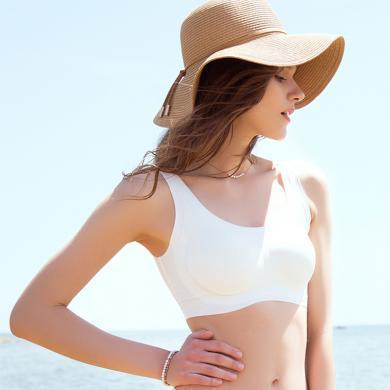 Ubras舒適無痕系列-文胸-深V版 無痕內衣女無鋼圈聚攏大胸顯小夏季薄款文胸