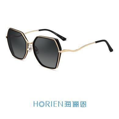 海儷恩新款近視太陽鏡配鏡套餐多色炫彩鍍膜大框墨鏡女N6718