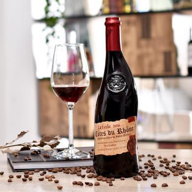 法國進口 La fiole 歪脖子芙華安賽倫干紅葡萄酒禮品裝750ml