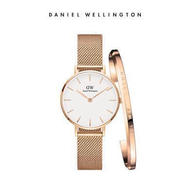 丹尼爾惠靈頓(Daniel Wellington)DW女表28mm金屬表帶手表dw手鐲套裝