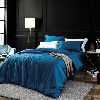 LOVO家紡 歐洲新銳設計純色貢緞 全棉高支高密60S+200*98奢華四件套1.5/1.8m床 塞巴斯蒂安