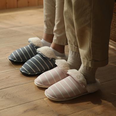 朴西冬情侣毛拖鞋女室内冬季家用防滑可爱毛绒棉拖鞋家居包跟保暖