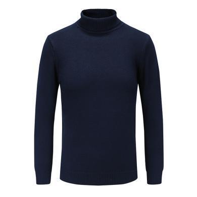 藍天龍 男裝長袖高領針織衫7012