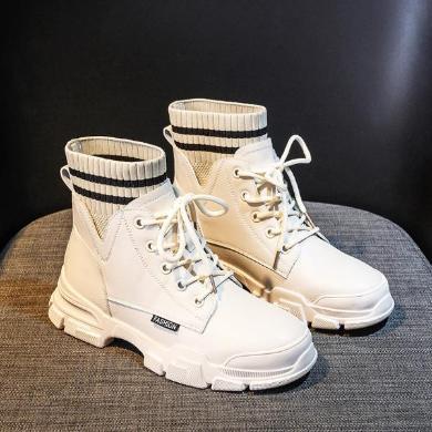 CLAWMONEY短靴女秋单靴马丁靴英伦风2019新款百搭靴子女冬瘦瘦鞋网红潮