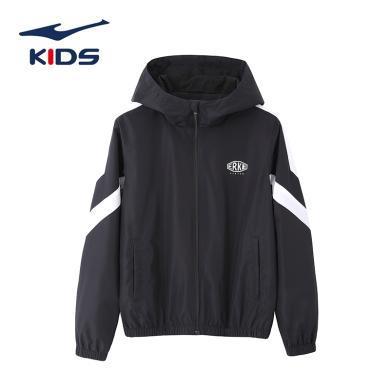 鴻星爾克男童外套夾克2019冬季新款上衣連帽拉鏈開衫兒童防風外套上衣潮外套童裝兒童衛衣童裝男童裝新童裝童裝外套夾克童裝  63220182080