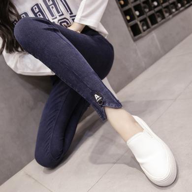 修允菲秋冬季新款彈力小黑褲外穿顯瘦大碼高腰鉛筆褲魔術褲女B4868