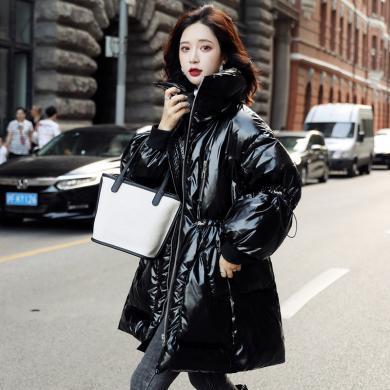 熤笙靘 2019冬季新款韓版女裝外套90白鴨絨中長款翻領羽絨服女    N052