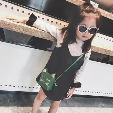 ocsco 韓版兒童包包秋冬新款女童迷你小包可愛公主斜挎包貓咪寶寶單肩包
