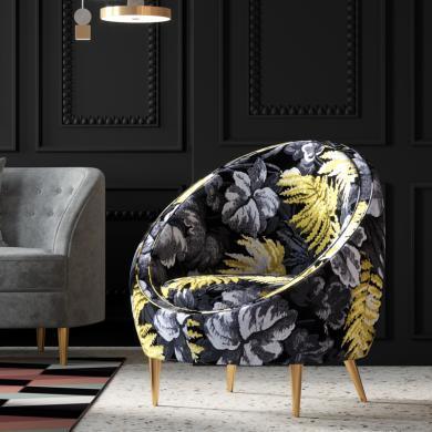 奢恩 沙發 現代輕奢 實木框架+高回彈海綿+布+五金腳  休閑沙發 HW-03/S-20