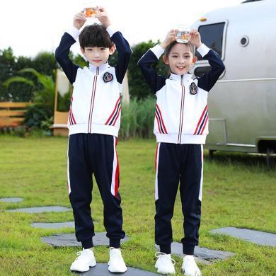 谜子 中小学生校服秋季新款童装两件套奥运风运动会套装幼儿园园服表演服班服
