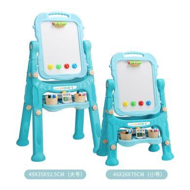兒童繪畫畫板兒童雙面磁性可升降大號支架畫板畫板黑板早教玩具TTLXF9038