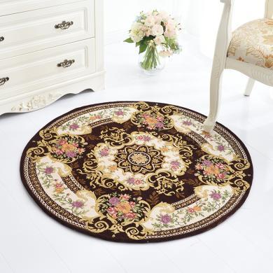 【多色可选/下单减10元】VIPLIFE新款地垫地毯 多尼尔地垫休闲垫圆形-欧式系列