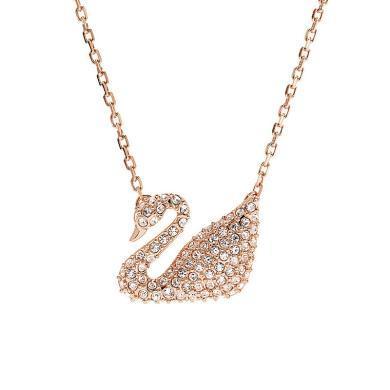 【支持購物卡】Swarovski施華洛世奇 Swan 天鵝點綴 鎖骨項鏈 玫瑰金色5121597