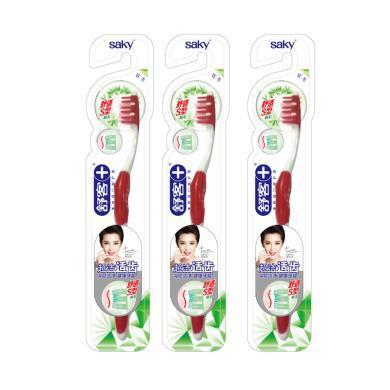 【舒客牙刷*3支】舒客超潔適齒牙刷 舒適S型(3支) 顏色隨機發