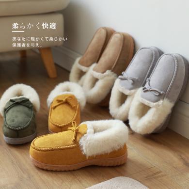 智庭冬季包跟棉拖鞋女居家毛絨保暖防滑厚底秋冬月子鞋棉鞋家用男