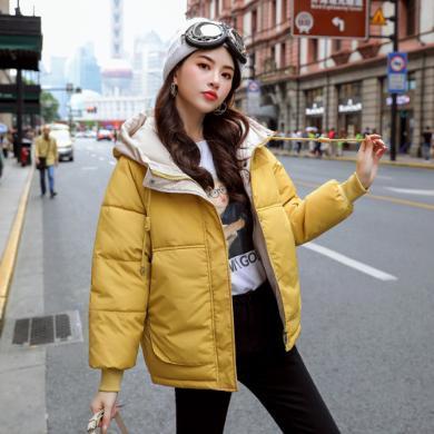 DOWISI實拍19冬季新款羽絨棉服女短款棉襖ins面包服學生韓版寬松棉衣外套HS99655