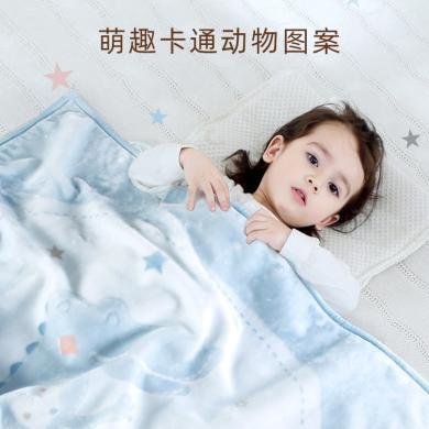SpiritKids雙層加厚云毯嬰兒蓋毯春秋冬雙層加厚寶寶毯子多功能新生兒保暖云毯
