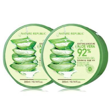 【支持购物卡】2罐*韩国 NatureRepublic 自然乐园芦荟胶 300ml/盒