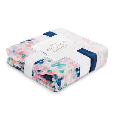 aden+anais 婴儿多功能襁褓包巾宝宝?#24202;几?#34987;盖毯 竹棉白标系列