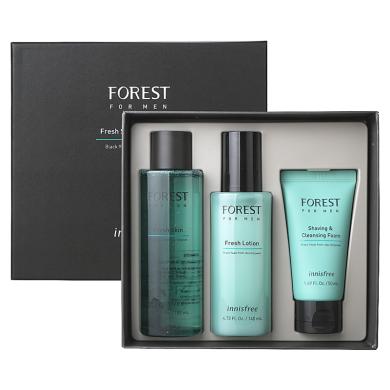 【支持購物卡】韓國innisfree悅詩風吟 新版男士套盒 綠色藍色森林男士套裝盒二合一 水乳洗面奶清爽控油祛痘套裝