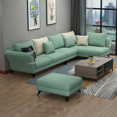 HJMM布藝沙發北歐小戶型簡約現代客廳整裝網紅沙發123組合