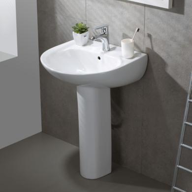 九牧卫浴立柱式洗脸盆一体柱盆立式卫生间洗漱台一体陶瓷12543