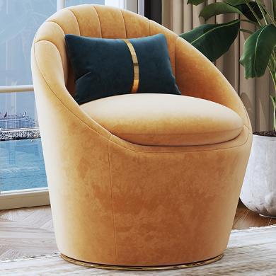 慕梵迪 休閑椅 現代輕奢 實木框架+優質布藝+高回彈海綿+五金腳 S-24