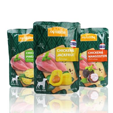 寵物零食麥富迪泰國進口狗罐頭犬濕糧肉粒包狗零食雞肉山竹風梨菠蘿蜜味犬肉粒包