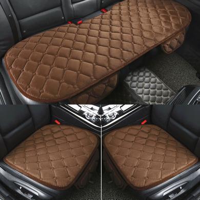 冬季毛絨汽車座墊三件套 仿兔毛羊毛單片通用坐墊加厚