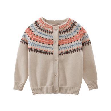 謎子 童裝秋冬新款兒童單排紐扣開衫毛衣外套男女童長袖針織衫
