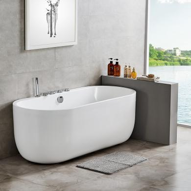 【新品】九牧小戶型亞克力浴缸衛生間獨立式浴池家用普通浴盆Y077