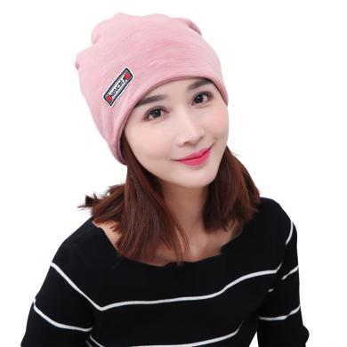 摩登孕妈 新款孕妇缎彩绒护头保暖月子帽围脖头巾堆堆帽防风束发帽