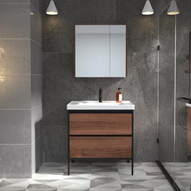 【新品】九牧浴室柜组合卫生间洗漱台洗手盆柜工业风浴室柜A1253套装
