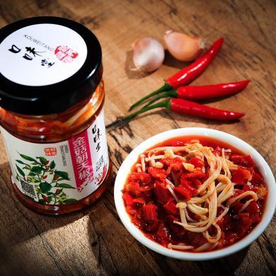 良家小品辣椒醬金菇朝天椒225g 鮮香下飯菜剁辣椒調味醬