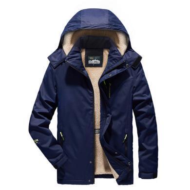 战地吉圃 新款加绒加厚棉服男大码男装时尚棉衣休闲保暖棉袄外套