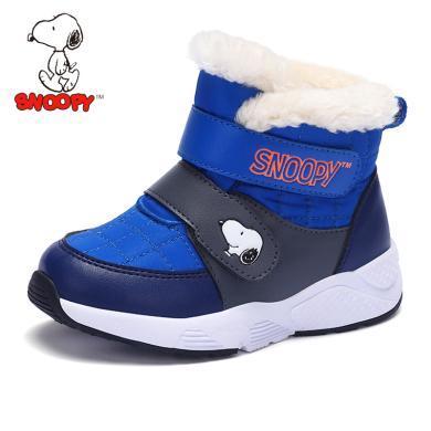 史努比童鞋男童靴子2019冬季新品兒童棉靴加絨保暖男童鞋中筒棉靴    S8146802