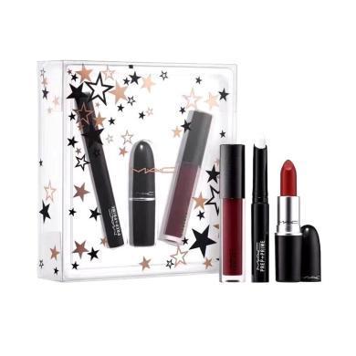 【支持購物卡】MAC 美國 魅可圣誕節限量套裝口紅 三支正裝