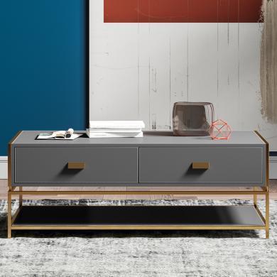 奢恩 茶幾 現代輕奢 高密度板+超纖皮+不銹鋼五金 ZE-002